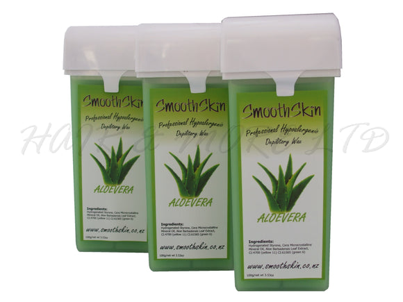 Smooth Skin Warm Wax Catridges - Aloe Vera x 3