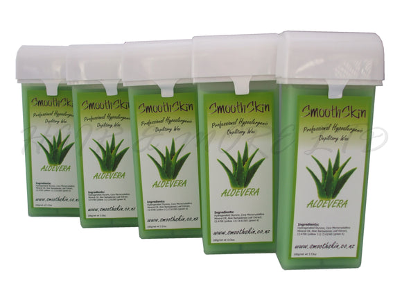 Smooth Skin Warm Wax Catridges - Aloe Vera x 5