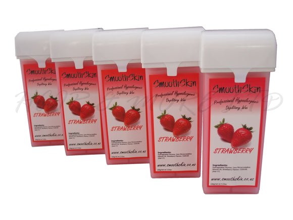 Smooth Skin Warm Wax Catridges - Strawberry  x 5