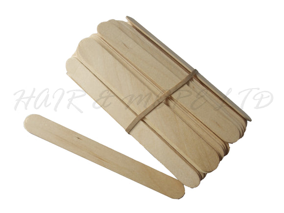 Large Wooden Waxing Spatulas -100 pack