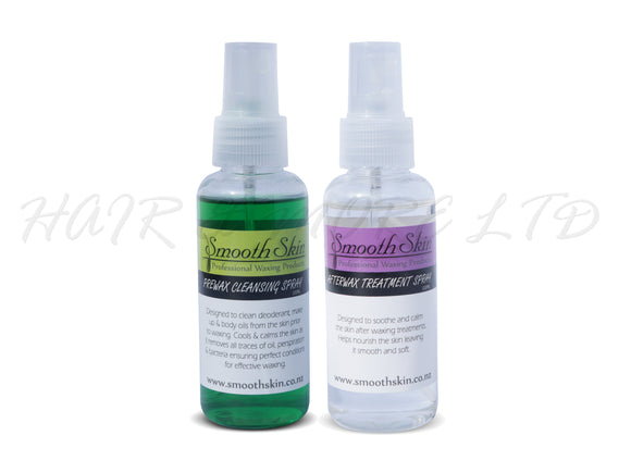 Smooth Skin Pre-Wax Cleanser and After-Wax Treatment Sprays
