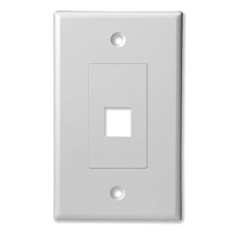Keystone Insert with Decorator Style Wall Plate