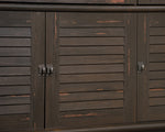 Credenza Antiqued Paint Finish