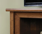 Entertainment Credenza Auburn Cherry Finish