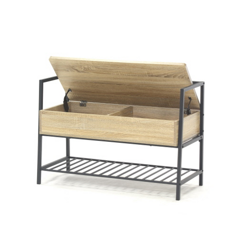 Sauder® North Avenue® Storage Bench Charter Oak Finish