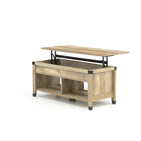 Sauder® Carson Forge® Lift-top Coffee Table Lintel Oak® Finish