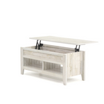 Lift-top Coffee Table White Plank Finish