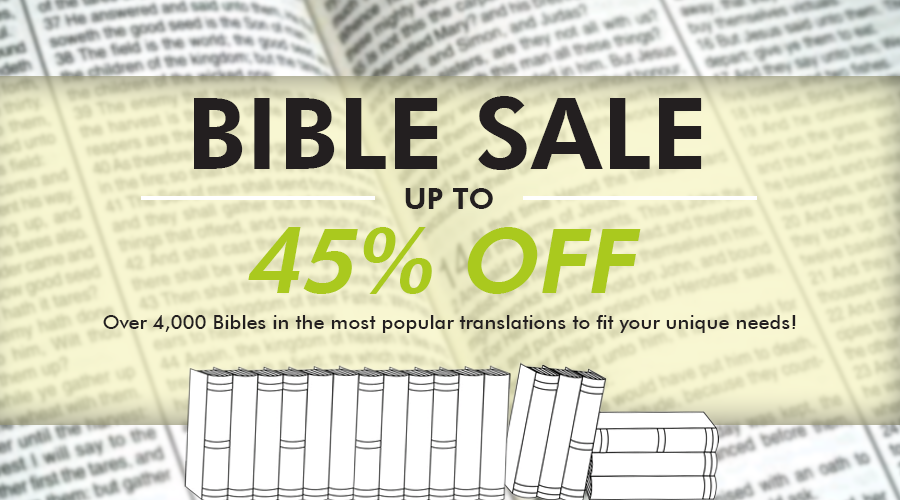 Bible Sale up to 40% off