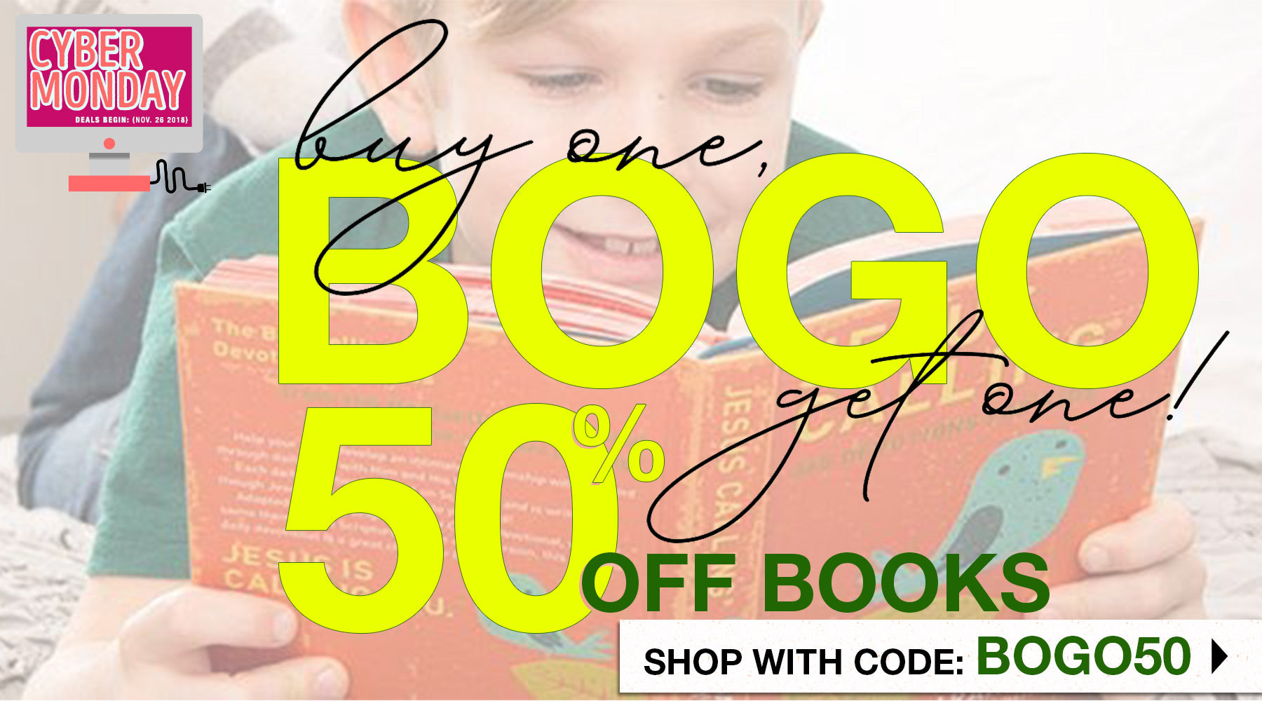 BOGO: Buy One, Get One 50% off Books