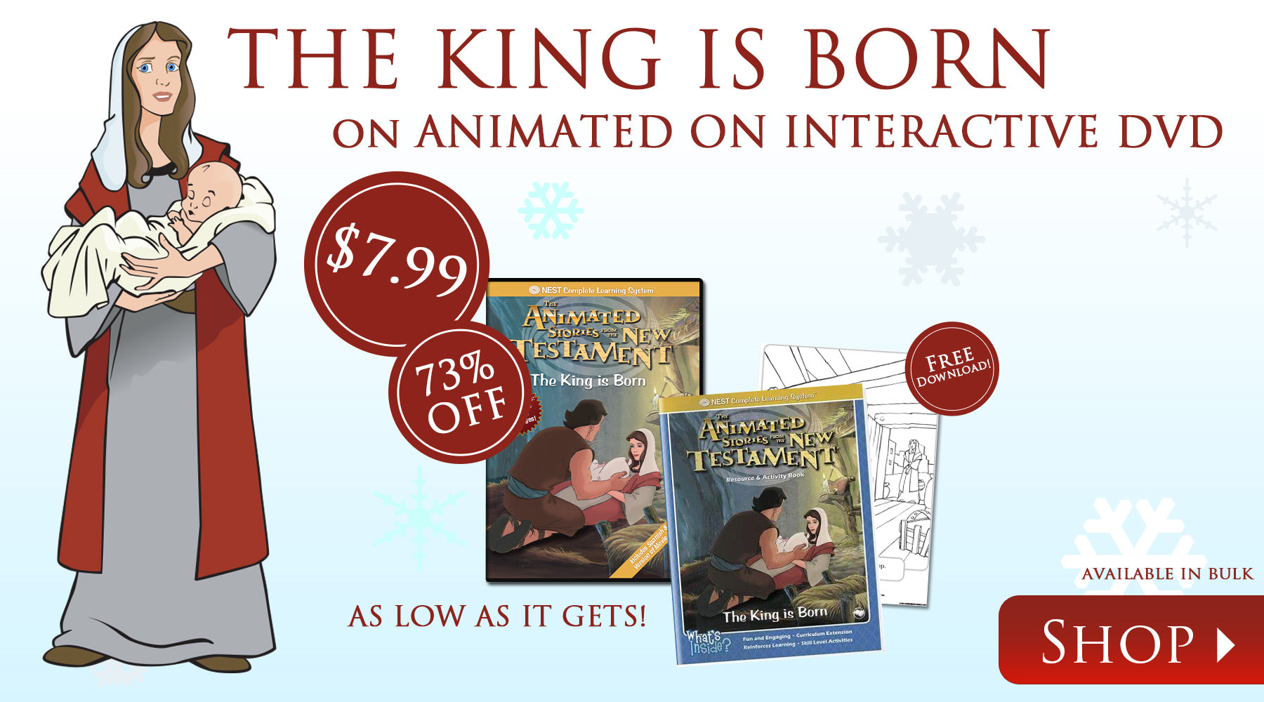 The King is Born on Animated Interactive DVD