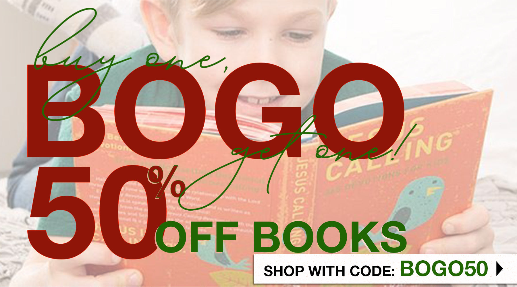 Books - Buy one, Get one 50% off