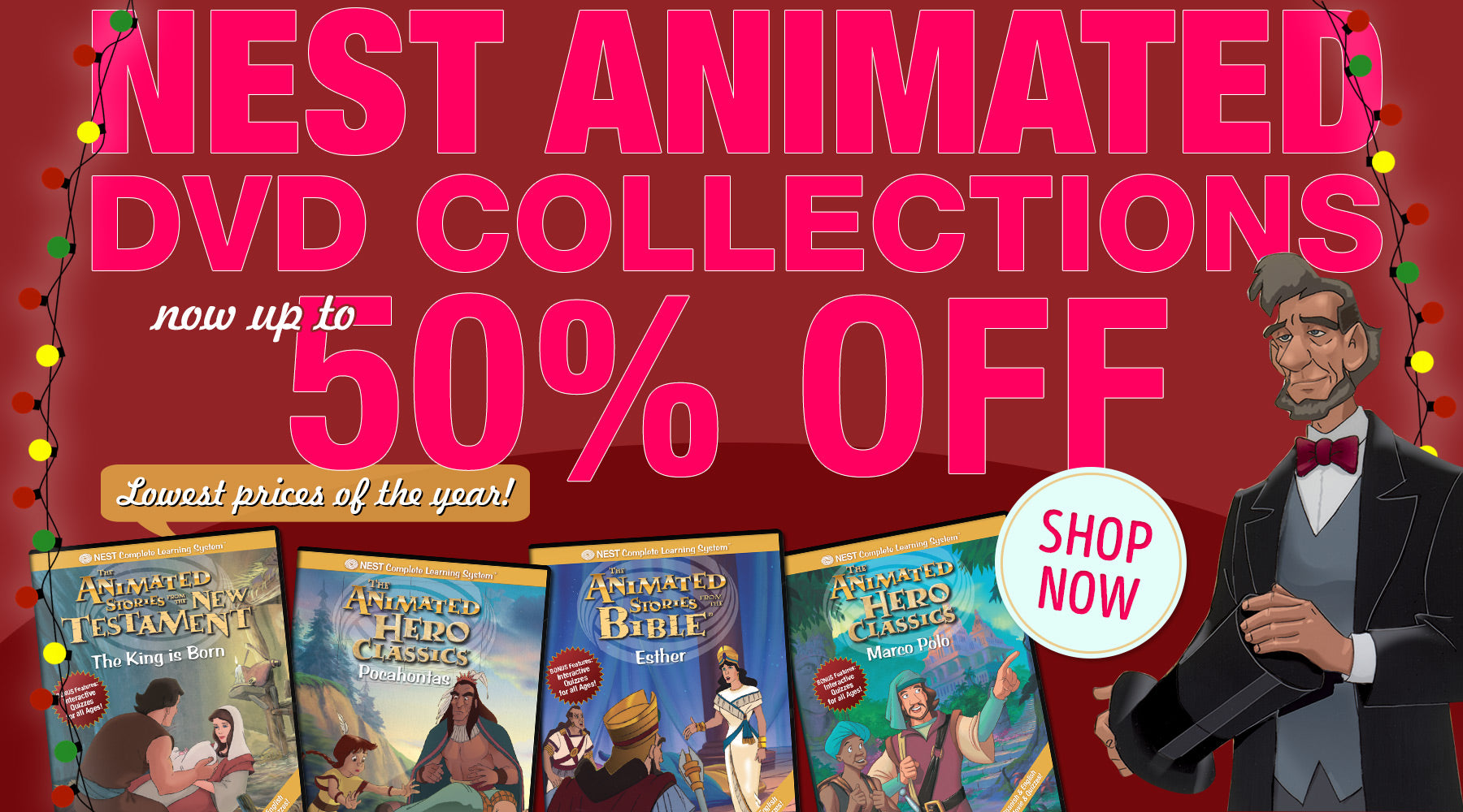 Nest Animated DVD Collections up to 50% off