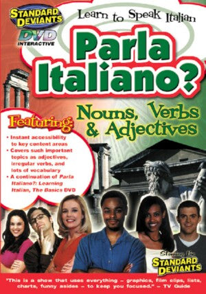 Italian Program 2: Parla Italiano? Nouns Verbs & Adjectives