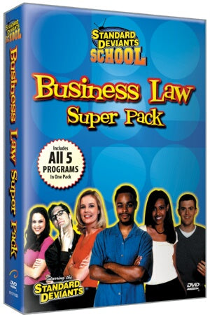 Standard Deviants School Business Law (5 Pack)