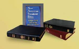 NASB Large Print Ultrathin Reference Bible-Burgundy Bonded Leather