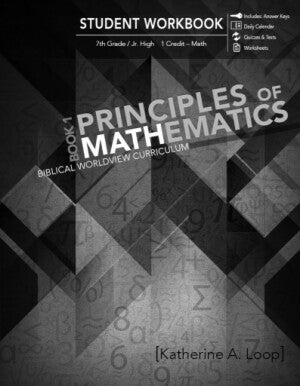 Principles of Mathematics Book 1 (Student Workbook)