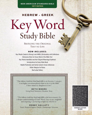 NASB Hebrew Greek Key Word Study Bible Black Leather