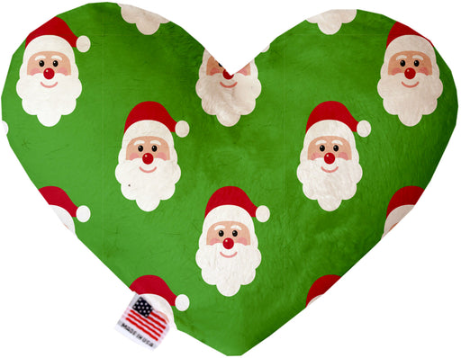 Smiling Santa 6 Inch Canvas Heart Dog Toy