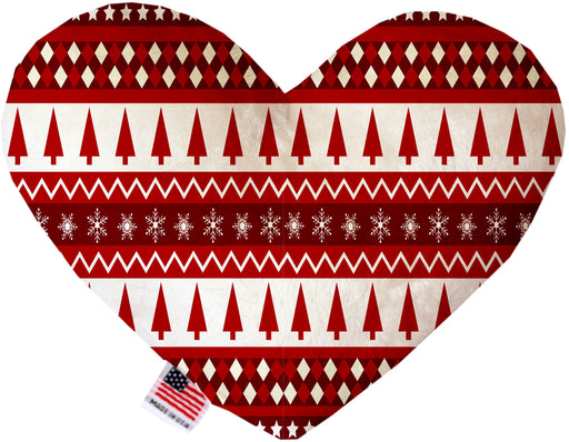 Red Classic Christmas 8 Inch Canvas Heart Dog Toy