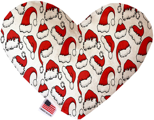 Santa Hats 8 Inch Canvas Heart Dog Toy