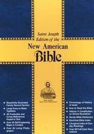 NABRE St. Joseph Edition Medium Size Gift Bible-Red Bonded Leather
