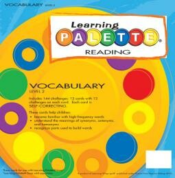 Learning Wrap Ups Palette Vocabulary Level 2 Cards
