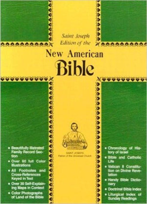 NABRE St. Joseph Edition Personal Size Bible-Brown Imitation Leather