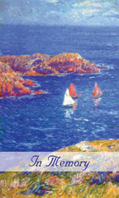 Gift Acknowledgement Card-In Memory/Sailboats (Pack of 25) (Pkg-25)