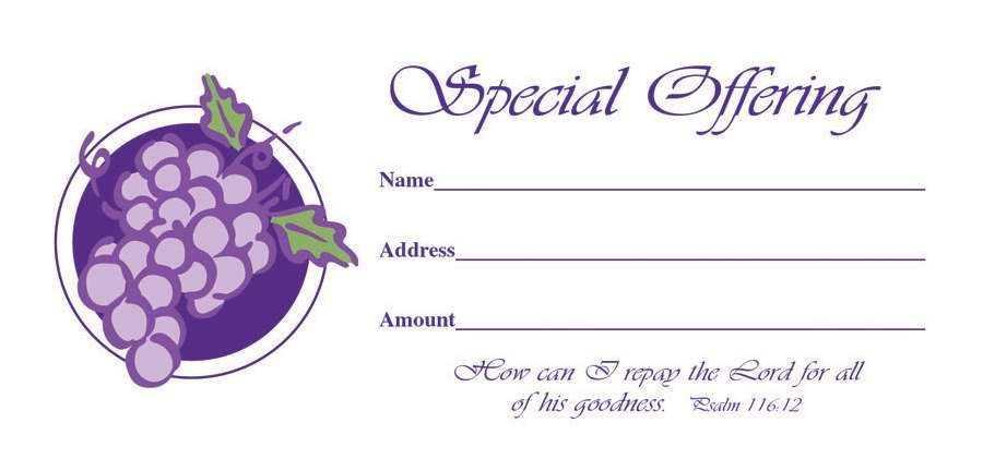 Offering Envelope-Special Offering (Psalm 116:12) (No. 3 Size) (Pack Of 100) (Pkg-100)