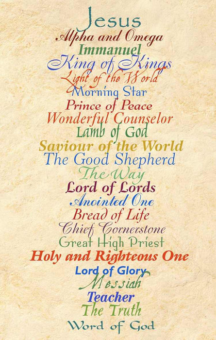 Postcard-Names Of Jesus (Pack of 25) (Pkg-25)