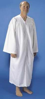 Robe-Pleated Baptismal For Men-XLG