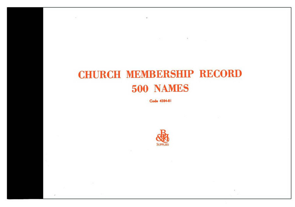 Form-Church Membership Record (Form M-1)