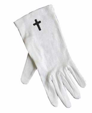 Gloves-Usher w/Cross Only-Large