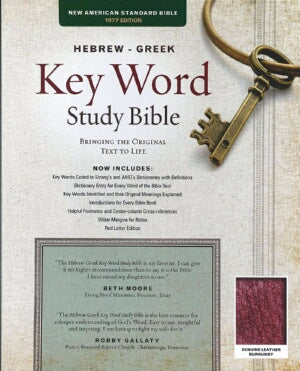 NAS Hebrew Greek Key Word Study Bible (Burgundy)
