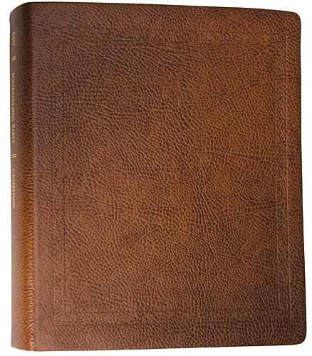 ESV Journaling Bible-Mocha Threshold Design Bonded Leather