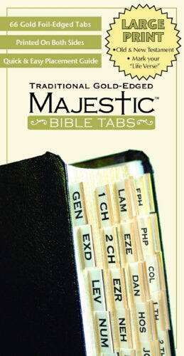 Majestic-Traditional Gold Edged-Lrg Prt Bible Tab