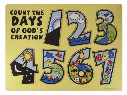 Puzzle-Count The Days Of God's Creation/Wooden