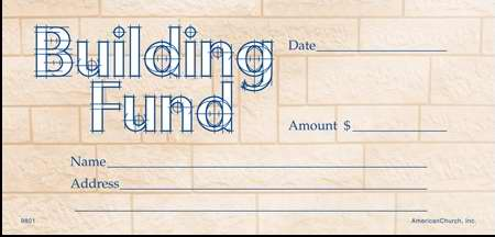 Offering Envelope-Building Fund (Pack Of 100) (Pkg-100)