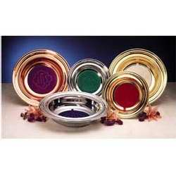 "Offering Plate-Brasstone-Anodized Aluminum (Purple IHS)-14"" (RW 314ABP)"