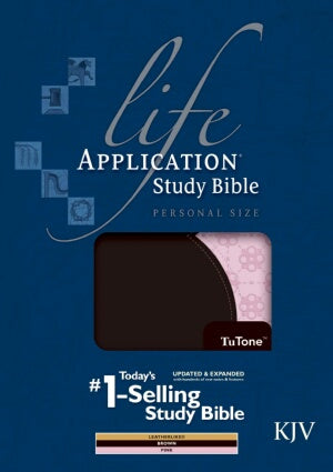 KJV Life Application Study/Personal-Brn/Pnk TuTone