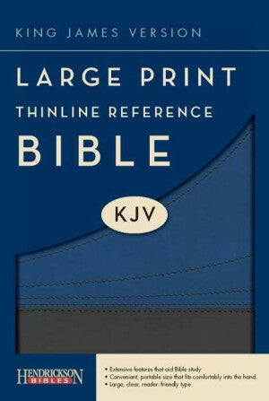 KJV Thinline Large Prt Reference-Slat/Blu Flex S/S