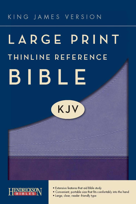 KJV Large Print Thinline Reference Bible-Violet/Lilac Flexisoft (Value Price)