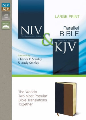 NIV*/KJV Parallel Bible-Navy/Tan DuoTone (Apr)