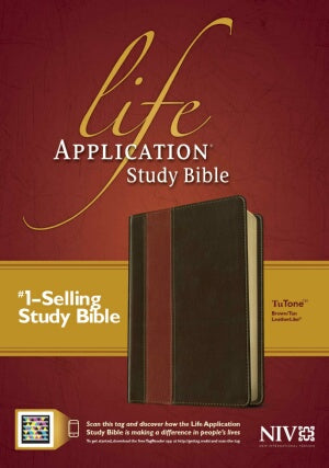 NIV Life Application Study (Updated)-Brn/Tan Indx