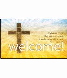 Pew Card-Welcome/Cross  (Psalm 122:1) (Pack Of 50) (Pkg-50)