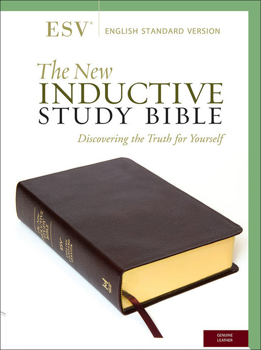ESV New Inductive Study Bible-Burgundy Genuine Leather