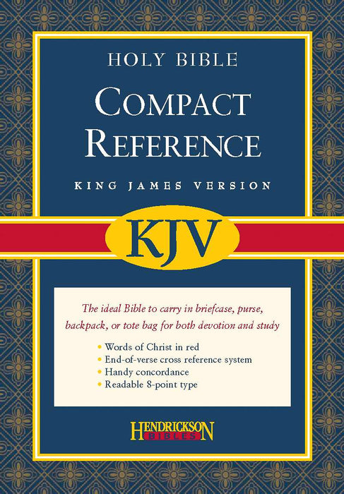 KJV Large Print Compact Reference Bible-Burgundy Bonded Leather