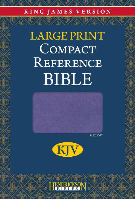 KJV Large Print Compact Reference Bible-Lilac Flexisoft