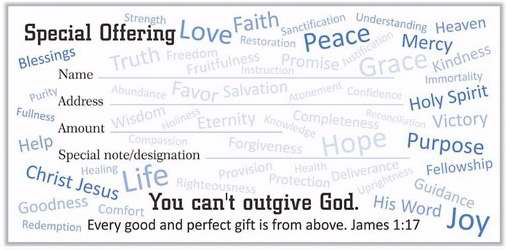 Offering Envelope-Special Offering (Jas 1:17) (Pack Of 100) (Pkg-100)