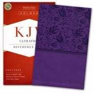KJV UltraThin Reference Bible-Purple LeatherTouch